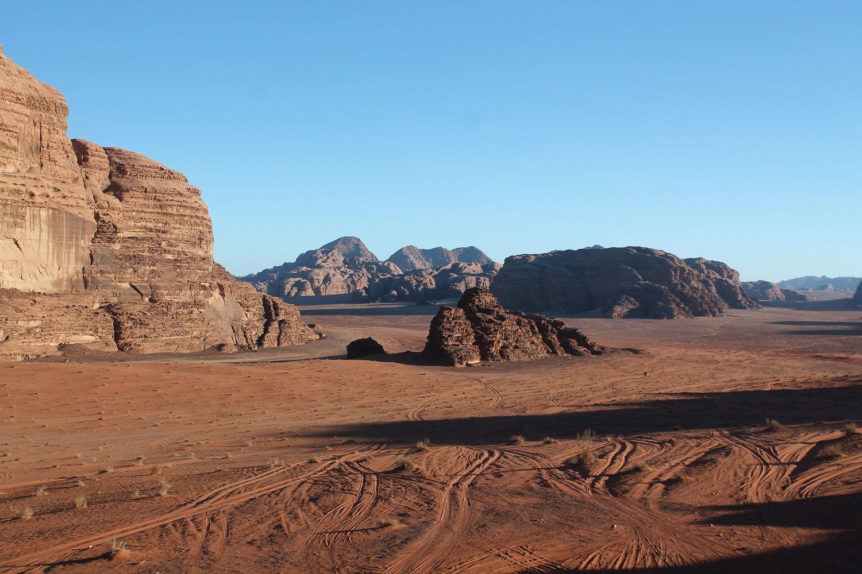 Jordánsko: púšť Wadi Rum